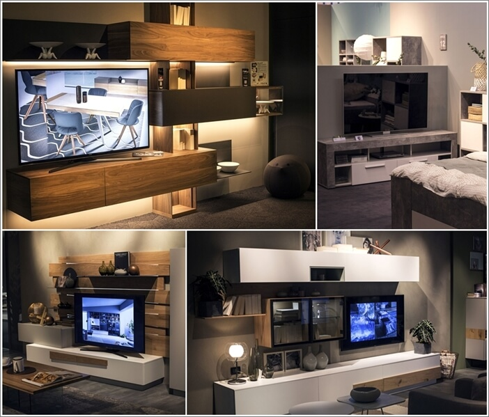 25 terrific tv unit designs for your living room for Living room tv unit designs