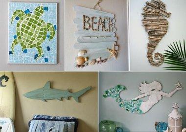 29 Superb DIY Coastal Wall Art Ideas fi