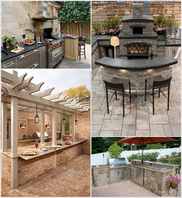 29 awesome outdoor barbecue kitchen ideas for Outdoor kitchen bbq ideas