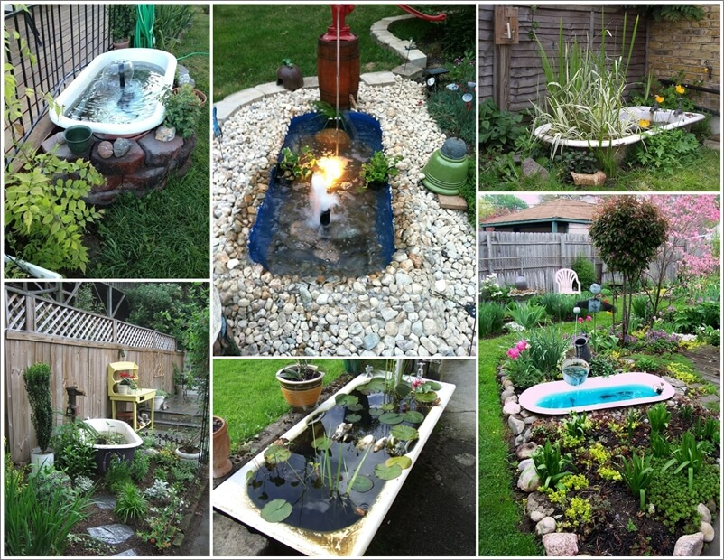 A Bathtub Pond in Your Garden Will be Just Great