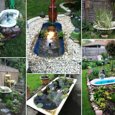 A Bathtub Pond in Your Garden Will be Just Great fi