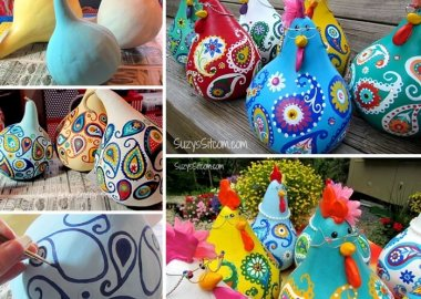These Super Cute Paisley Chickens are Made from Gourds fi