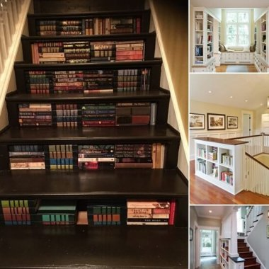 10 Clever Ways to Add a Bookcase to a Stairway fi