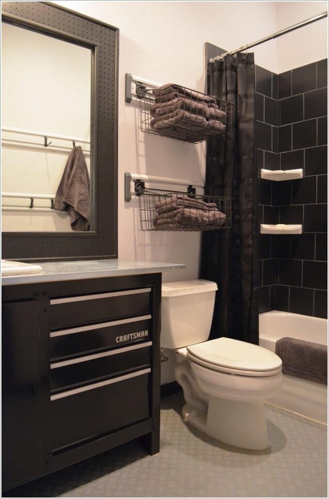 Small Bathroom Ideas With Shower Towel Storage