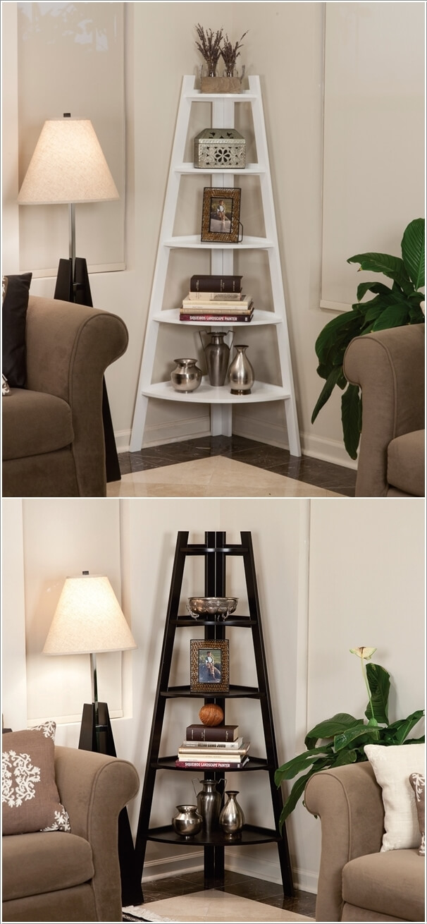 10. Invest In A Corner Shelving Unit Like These
