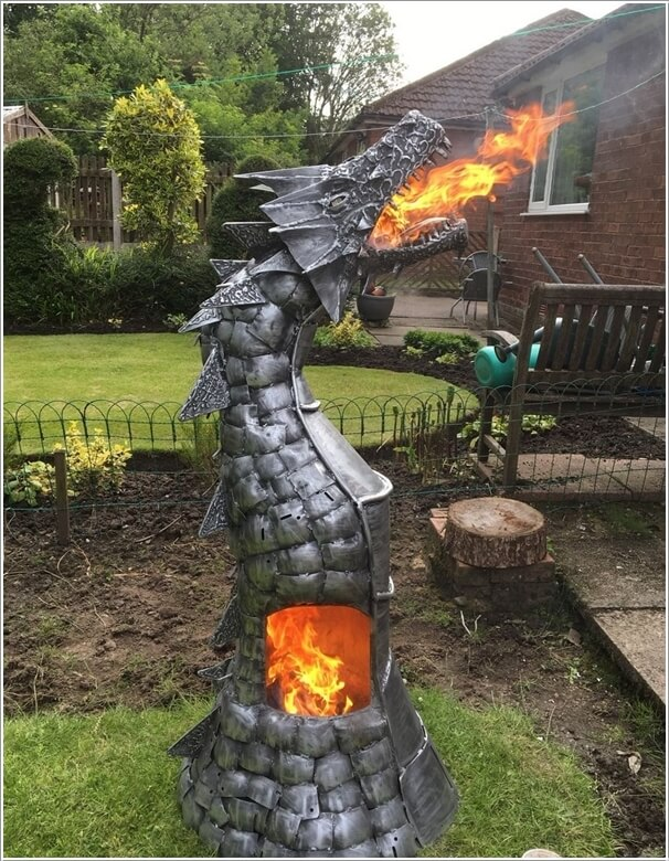Put A Dragon Fire Pit In Your Garden That Will Surely Grab Attention