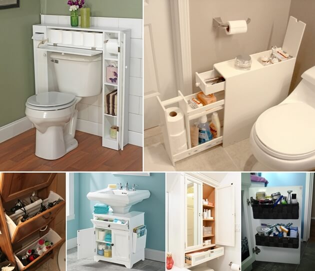 10 space saving storage ideas for your bathroom for Bathroom shelving ideas for small spaces