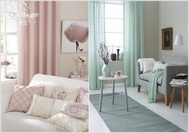 Dress The Windows In A Lovely Shade Of Pastel Curtains