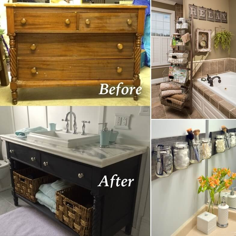 13 Things To Recycle For Your Bathroom Decor