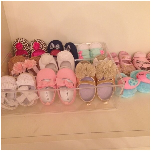 For Organizing Baby Or Kids Shoes Old Acrylic Makeup Storage Bo Are Great