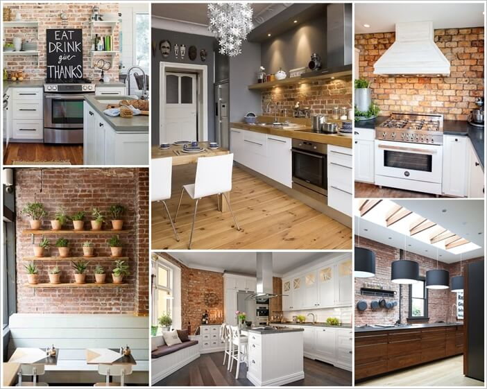 Astonishing 67 Amazing Kitchens With Exposed Brick Walls Home Remodeling Inspirations Genioncuboardxyz