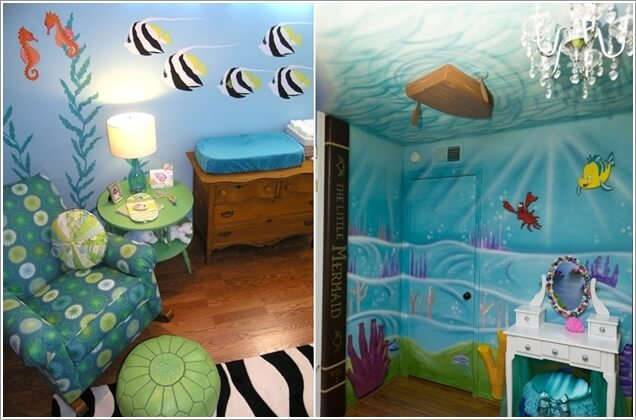 Stretch Your Creative Muscle And Paint A Mural On The Bedroom Walls And  Ceiling