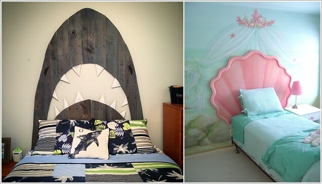 5. Go For A Unique Headboard Such As This Shark Or Shell Headboard