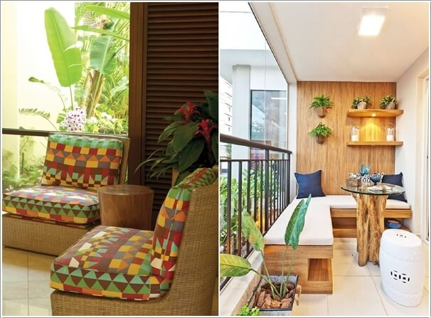 For A Nature Inspired Balcony Decor Go For A Tree Trunk Table