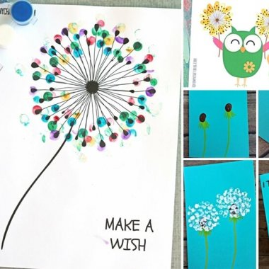 Celebrate Mother's Day with This Thumbprint Dandelion Craft fi