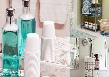 Clever 10 Minute Bathroom Storage Hacks fi
