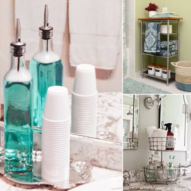 Clever 10 Minute Bathroom Storage Hacks fi