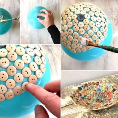 Craft a Cute and Cool Dish with Buttons fi