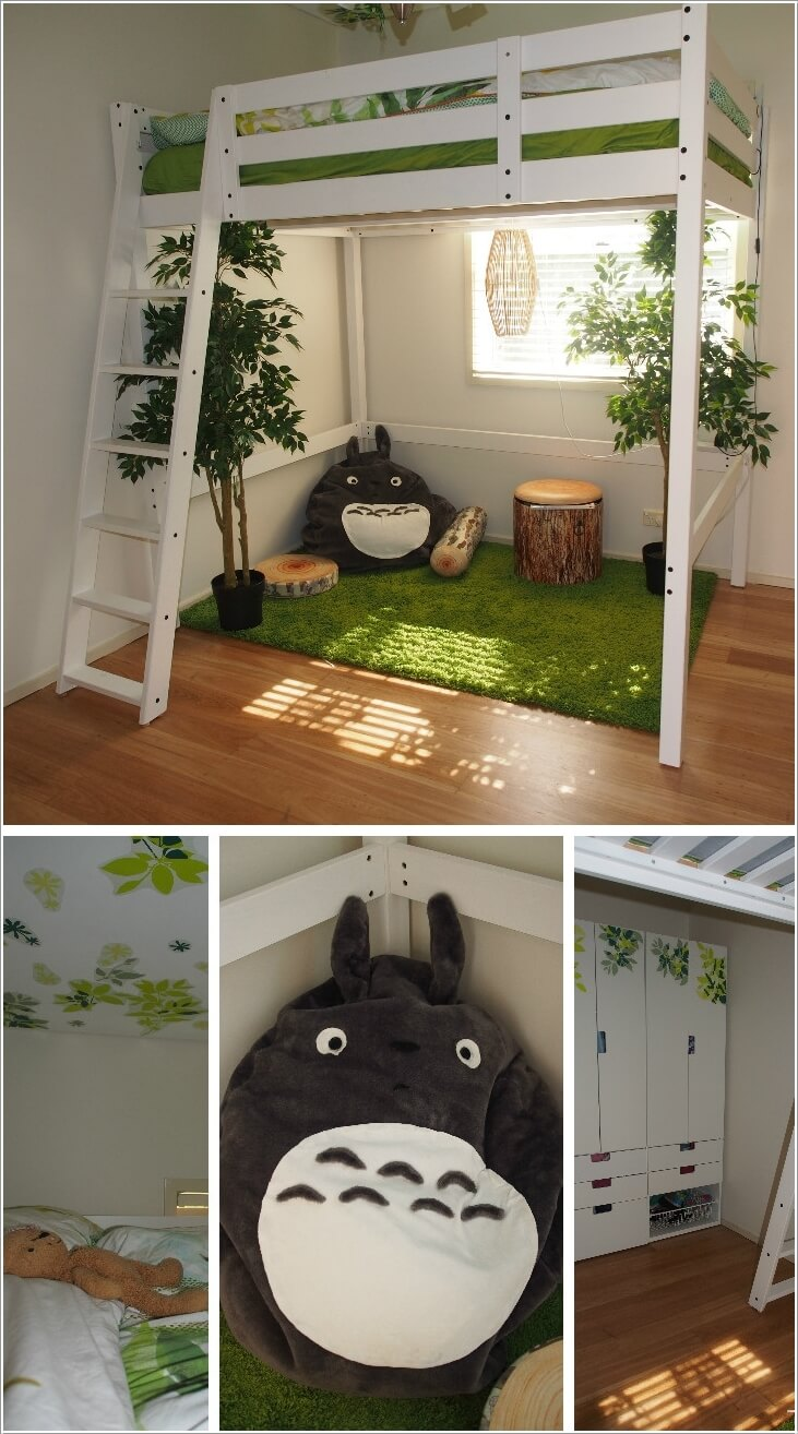 Creative forest themed kids bedroom and nursery decor ideas for Forest themed bedroom ideas