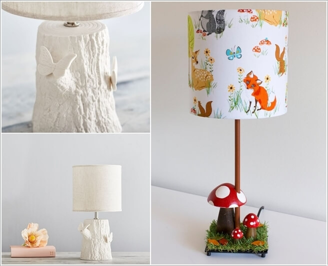 Decorate The Room With Some Adorable Forest Themed Lamps And Lights