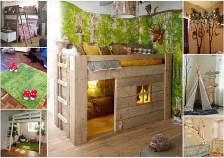Creative Forest Themed Kids Bedroom and Nursery Decor Ideas a
