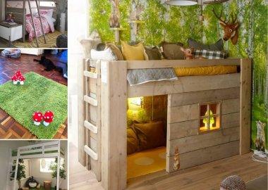 Creative Forest Themed Kids Bedroom and Nursery Decor Ideas fi