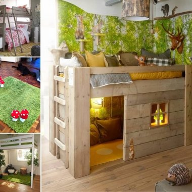 Creative Forest Themed Kids Bedroom and Nursery Decor Ideas fi