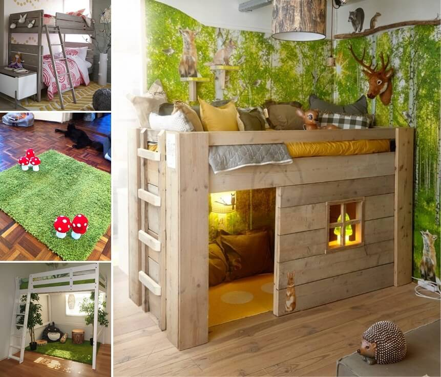 Room Decor Bedroom Decor Und: Creative Forest Themed Kids Bedroom And Nursery Decor Ideas