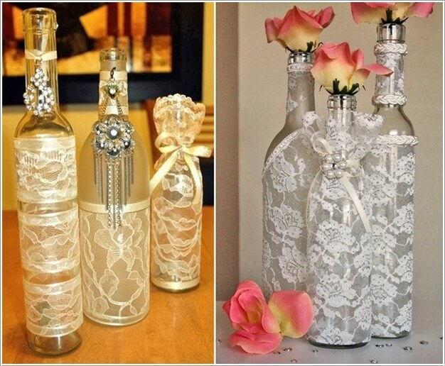 Creative ways to decorate glass bottles - How to decorate glass bottles ...