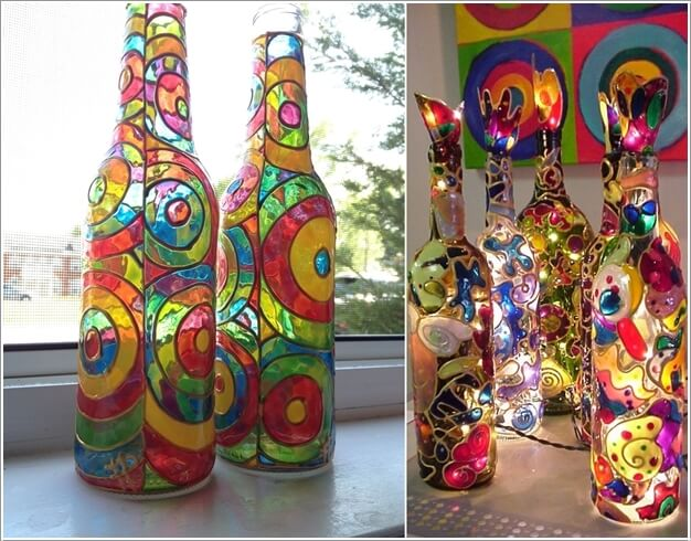 Creative-Ways-to-Decorate-Gl-Bottles-6 Paint Inside Home Designs on painting your home, paint garage, siding home, paint car, paint bottles, paint driveway, paint crafts, paint mobile home country, paint interior mobile home,
