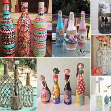 Creative Ways to Decorate Glass Bottles fi