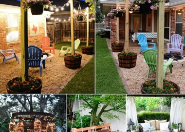 Decorate Your Home's Outdoor Area with Wine Barrels fi