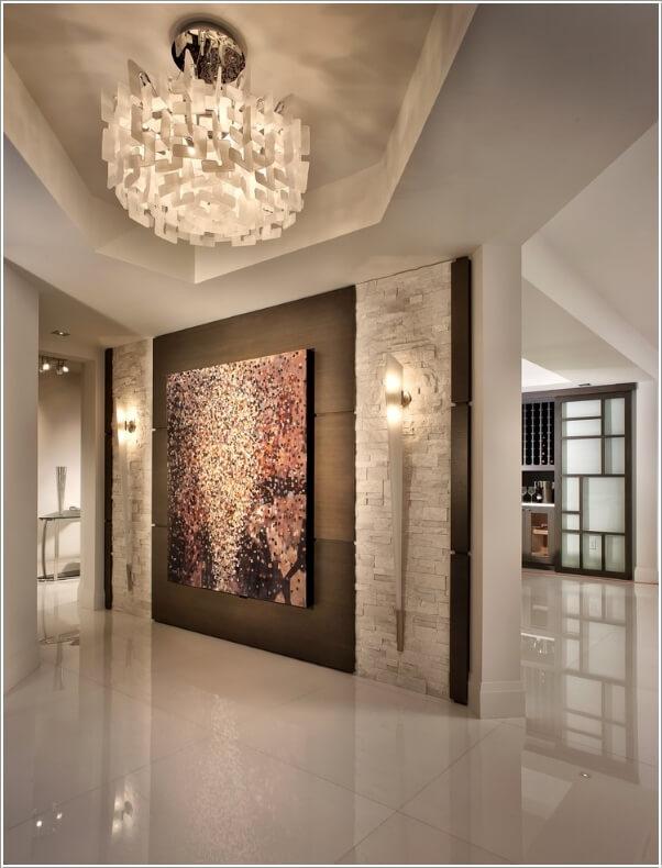 Unique Foyer Decor : Design your entryway wall in a unique way