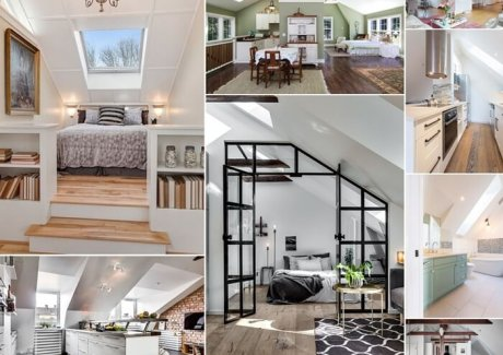 Inspiring and Clever Attic Apartment Designs fi