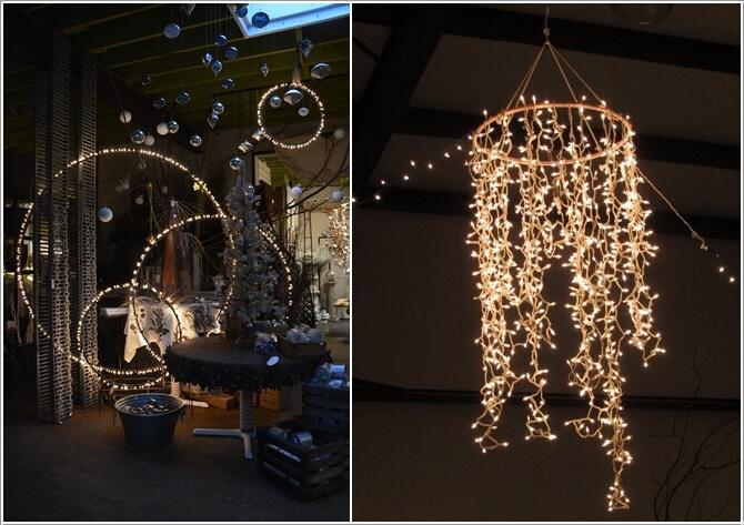 diy lighting. Make A Lamp Or Chandelier With Hula Hoops And String Lights Diy Lighting M