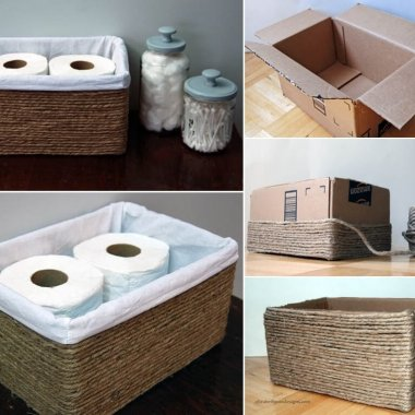 Make a Storage Basket from a Cardboard Box fi