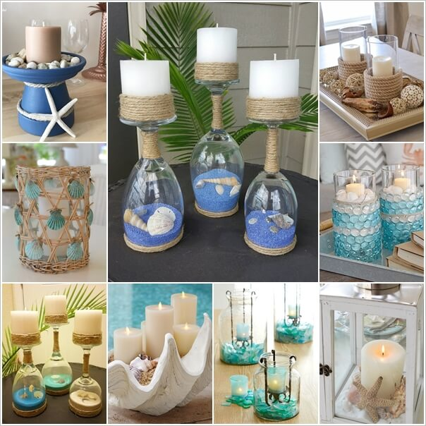 mesmerizing diy coastal candle holder ideas - Diy Candle Holders