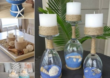 Mesmerizing DIY Coastal Candle Holder Ideas fi