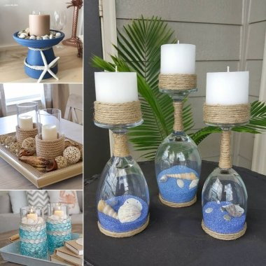 Mesmerizing DIY Coastal Candle Holder Ideas fi