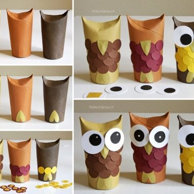 These Paper Roll Owls are So Adorable fi