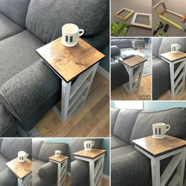 This DIY Sofa Table is Simply Awesome fi