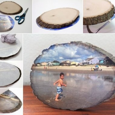 This Wood Slice Photo Transfer Idea is So Cool fi