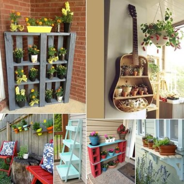 Unique Planter Shelf Ideas for Your Home and Garden fi