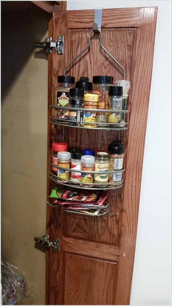 2. Invest In An Over The Door Spice Rack Or A Shower Caddy Like This One  Would Work Just Fine