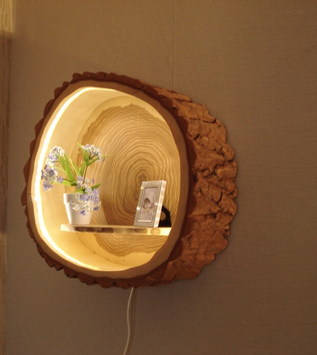Painted Wood Wall Sconce