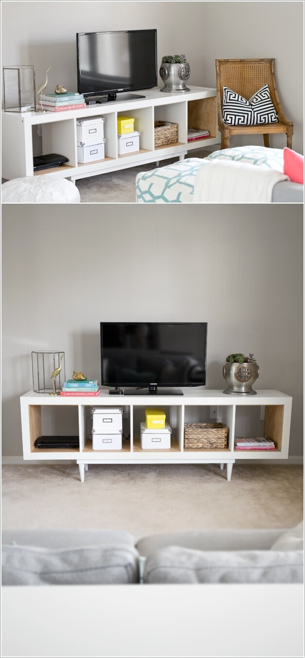 15 ways to hack ikea lack wall shelf. Black Bedroom Furniture Sets. Home Design Ideas