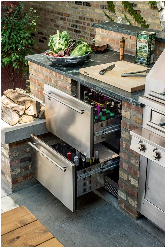16 cool ideas for your outdoor kitchen for Cool outdoor kitchen ideas