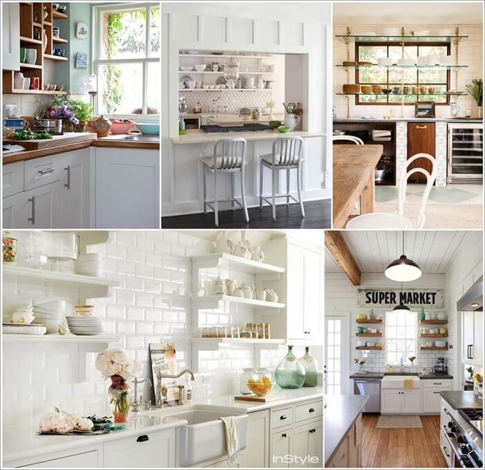 26 wonderful open shelving ideas for your kitchen for Open storage ideas
