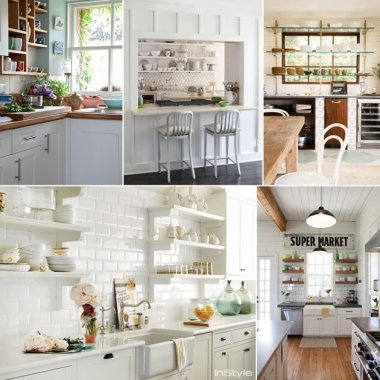 26 Wonderful Open Shelving Ideas for Your Kitchen fi