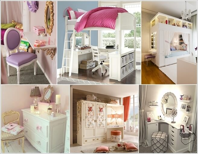 A Vanity Desk Not Only Looks Cute And Stylish Inside A Little Or Teen Girlsu0027  Room But It Is A Practical Piece Of Furniture As Well.